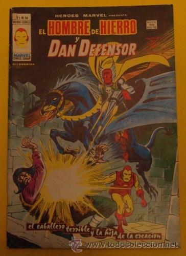 EL HOMBRE DE HIERRO Y DAN DEFENSOR - EL CABALLERO TERRIBLE Y LA HIJA DE LA CREACIÓN V.1 NO.52 1978 (Tebeos y Comics - Vértice - Hombre de Hierro)