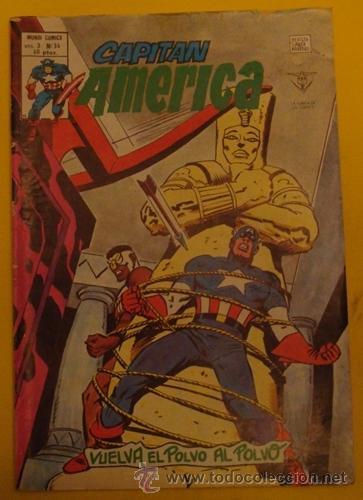 CAPITÁN AMÉRICA - VUELVA EL POLVO AL POLVO V.3 NO.34 AÑO 1976 (Tebeos y Comics - Vértice - Capitán América)