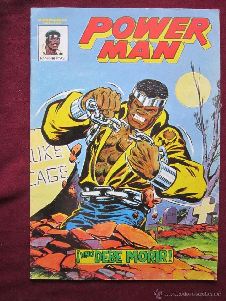 POWER MAN Nº 1. ¡UNO DEBE MORIR! MUNDI COMICS EDITORIAL VERTICE 1981 TEBENI MBE (Tebeos y Comics - Vértice - Otros)