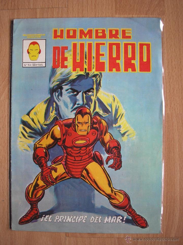 IRON MAN HOMBRE DE HIERRO Nº 1 EL PRINCIPE DEL MAR VERTICE -POSIBILIDAD DE ENTREGA EN MANO EN MADRID (Tebeos y Comics - Vértice - Hombre de Hierro)