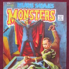 Cómics: RELATOS SALVAJES Nº 23. V.1. MONSTERS. ESPECIAL HORROR DE DRACULA. VERTICE.1974 MBE. Lote 40574480