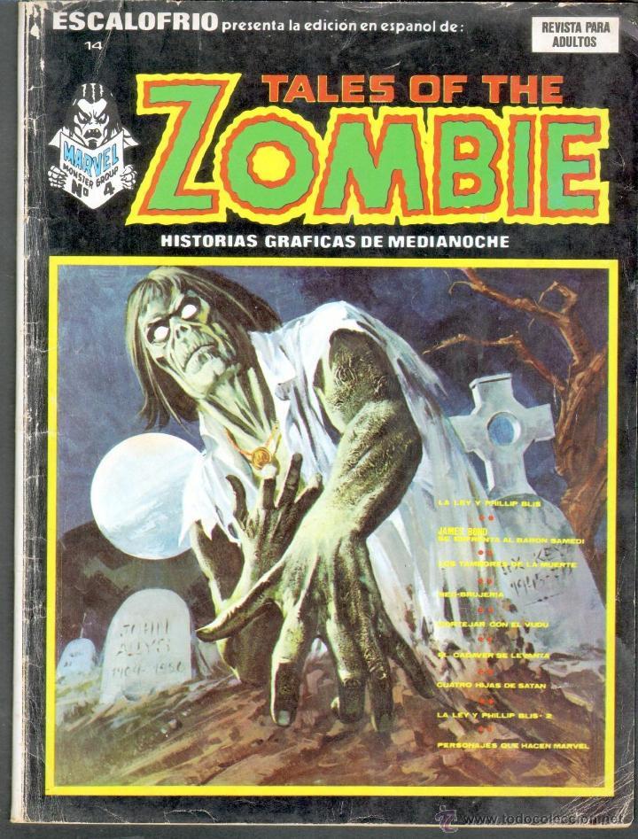 TEBEOS-COMICS GOYO - ESCALOFRIO - TALES OF THE ZOMBIE Nº 14 - VERTICE - 1973 - *AA99 (Tebeos y Comics - Vértice - Terror)