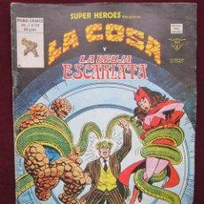 Cómics: SUPER HEROES PRESENTA LA COSA Y LA BRUJA ESCARLATA Nº 131 VOL. 2. VERTICE. 1976 TEBENI. Lote 41341423