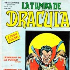 Cómics: CÓMIC VÉRTICE VOL.2 - ESCALOFRIO-LA TUMBA DE DRÁCULA - Nº 7 COLOR-ENCUAD.RÚSTICA. Lote 41343536