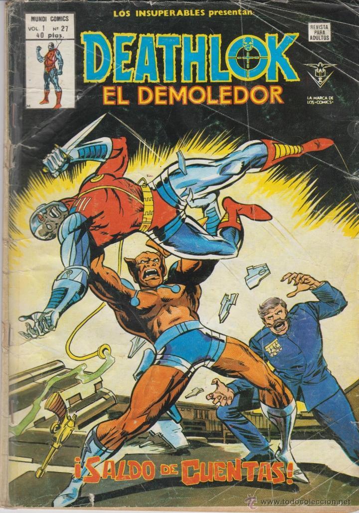 CÓMIC VÉRTICE V.1 - LOS INSUPERABLES PRESENTAN:DEATHLOK EL DEMOLEDOR - Nº 27 (Tebeos y Comics - Vértice - Otros)