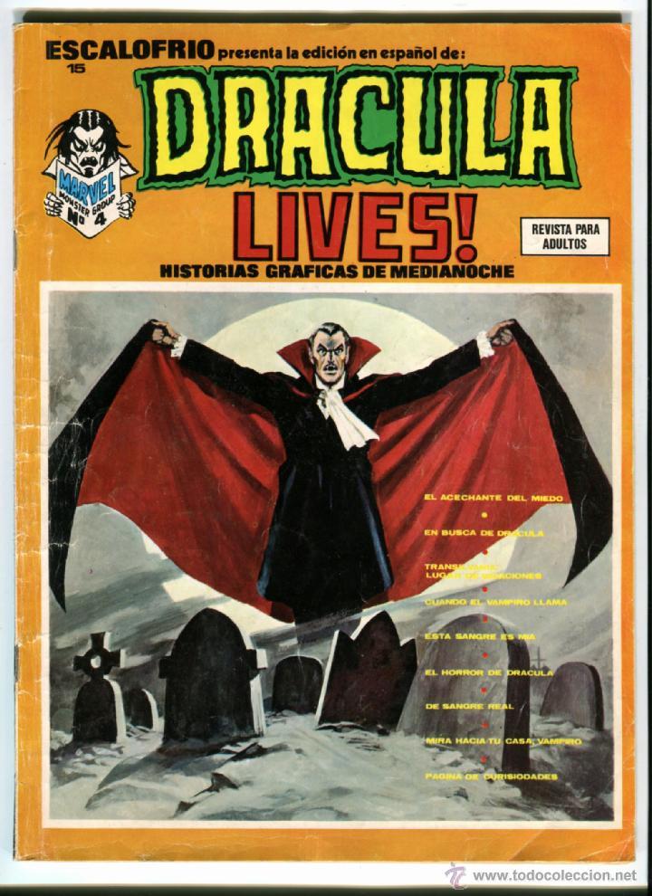 DRACULA LIVES Nº 15 AÑO 1974 (Tebeos y Comics - Vértice - Terror)