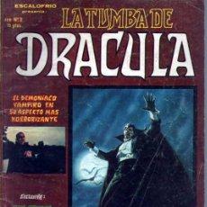 Cómics: ESCALOFRIO PRESENTA LA TUMBA DE DRACULA Nº 2. Lote 41563583