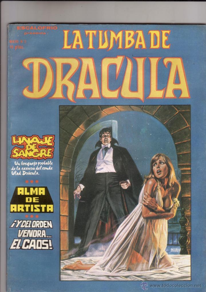 VERTICE - ESCALOFRIO LA TUMBA DE DRACULA NUM.3 ( ESPECIAL 60 PAG.). MUYYY BUEN ESTADO (Tebeos y Comics - Vértice - Otros)