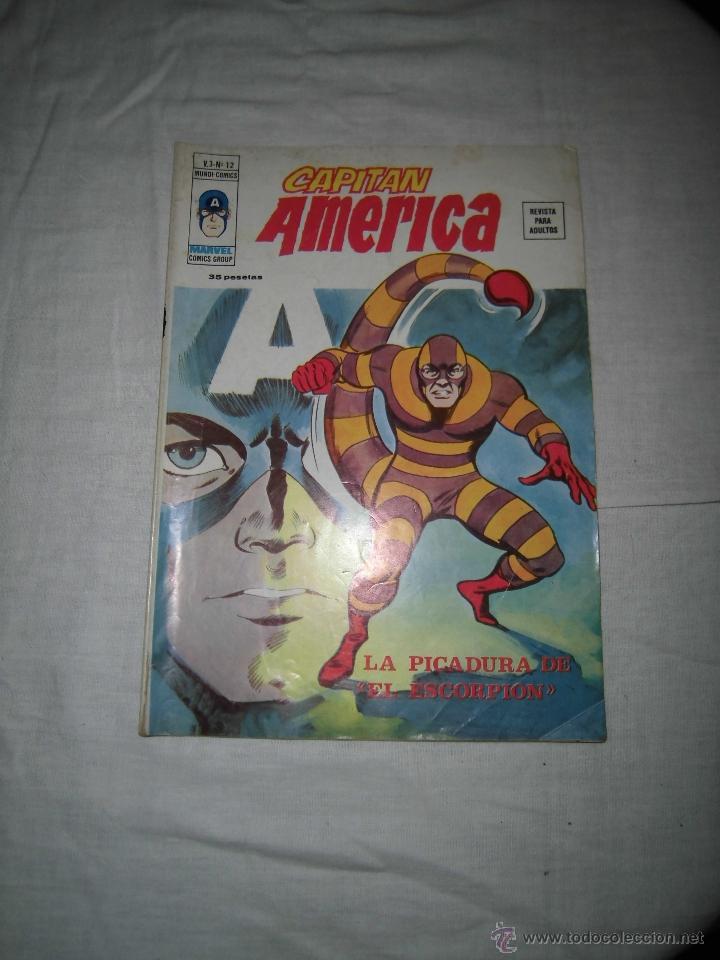 CAPITAN AMERICA V.3 Nº 12.-LA PICADURA DEL ESCORPION (Tebeos y Comics - Vértice - Capitán América)