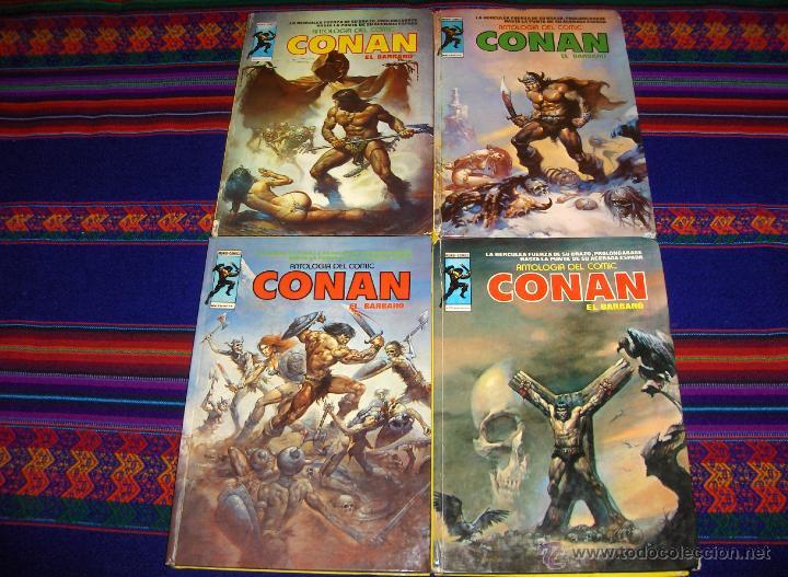VÉRTICE ANTOLOGÍA DEL COMIC CONAN TAPA DURA NºS 3, 5 Y 8. 300 PTS. 1977. DIFÍCILES!!!! (Tebeos y Comics - Vértice - Conan)