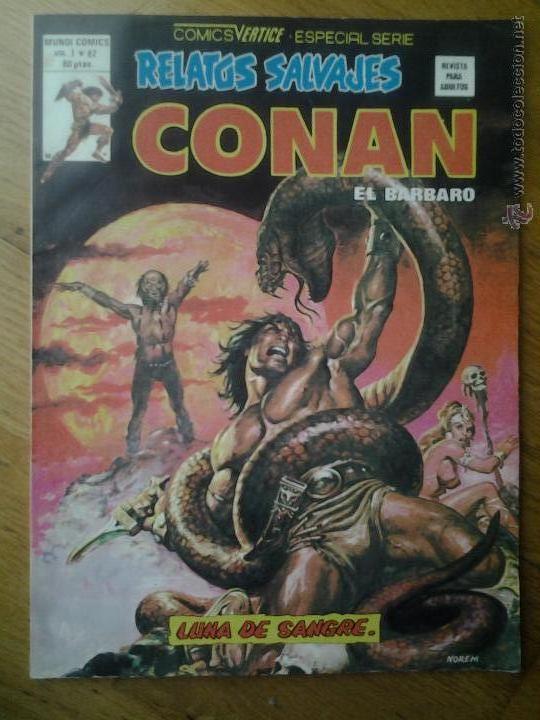 CONAN EL BARBARO COMIC RELATOS SALVAJES VERTICE ESPECIAL SERIE VOL. 1 NUMERO 82 (Tebeos y Comics - Vértice - Conan)