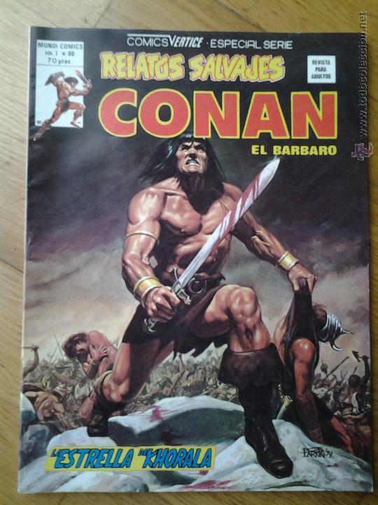 COMICS CONAN EL BARBARO RELATOS SALVAJES VERTICE ESPECIAL SERIE VOL. 1 NUMERO 80 (Tebeos y Comics - Vértice - Conan)
