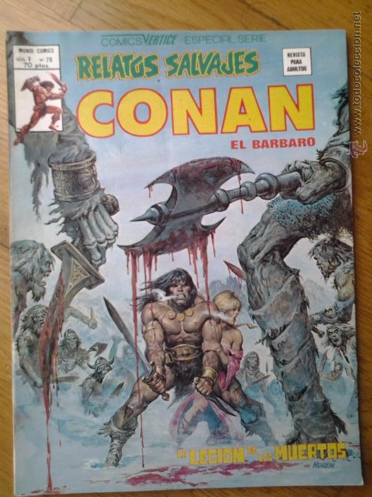 CONAN EL BARBARO COMIC RELATOS SALVAJES VERTICE ESPECIAL SERIE VOL. 1 NUMERO 79 (Tebeos y Comics - Vértice - Conan)