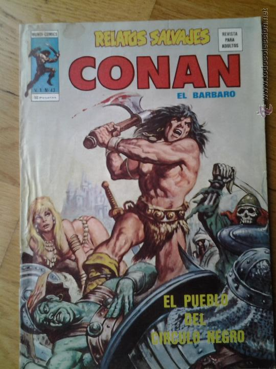 Cómics: CONAN EL BARBARO RELATOS SALVAJES MUNDI COMICS VOL. 1 NUMERO 43 - Foto 1 - 42560687