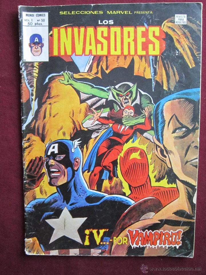 SELECCIONES MARVEL Nº 50. LOS INVASORES ¡V... POR VAMPIRO! VÉRTICE 1979 (Tebeos y Comics - Vértice - Otros)