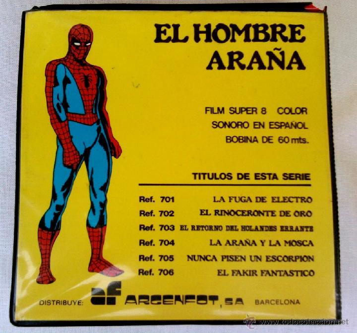 SPIDERMAN,PELICULA EN SUPER 8, AÑO 1967 UNICA¡¡,HEROE COMO CAPITAN AMERICA,THOR,PATRULLA X, VERTICE (Tebeos y Comics - Vértice - Super Héroes)