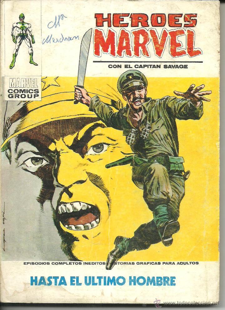 HEROES MARVEL CON EL CAPITÁN SAVAGE VOLUMEN 1 VÉRTICE Nº 11 (Tebeos y Comics - Vértice - Otros)