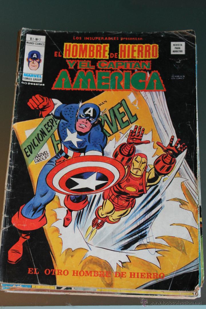 LOS INSUPERABLES : EL HOMBRE DE HIERRO Y EL CAPITAN AMERICA 7 VOLUMEN 1 VERTICE (Tebeos y Comics - Vértice - Capitán América)