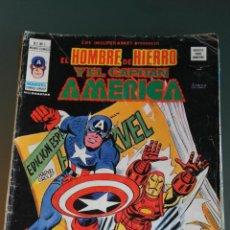 Cómics: LOS INSUPERABLES : EL HOMBRE DE HIERRO Y EL CAPITAN AMERICA 7 VOLUMEN 1 VERTICE. Lote 43429483