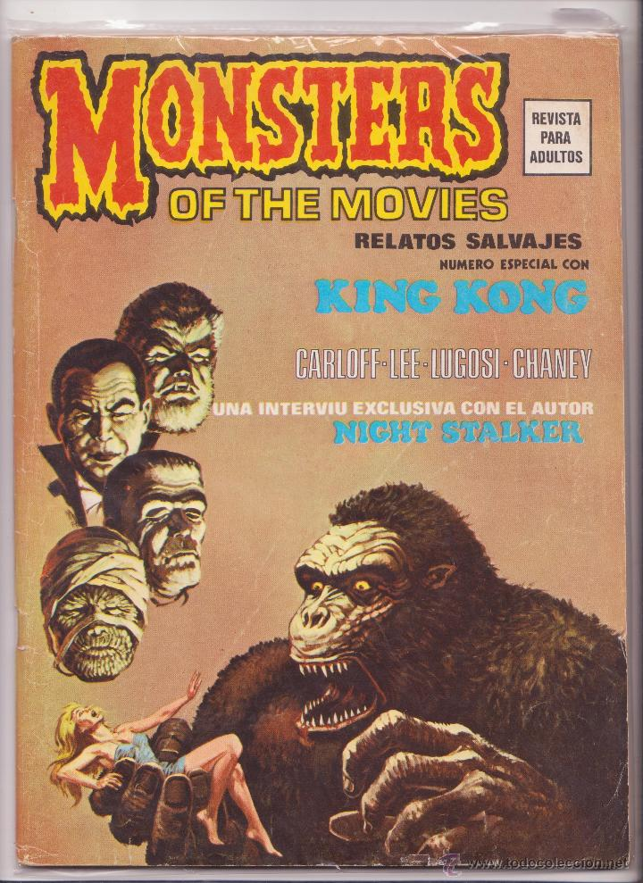 MONSTERS OF THE MOVIES RELATOS SALVAJES Nº 1 VERTICE (Tebeos y Comics - Vértice - Relatos Salvajes)