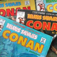 Cómics: 4 NÚMEROS DE CONAN EL BÁRBARO. RELATOS SALVAJES. MUNDI COMICS, VÉRTICE, 1980. Lote 43754457