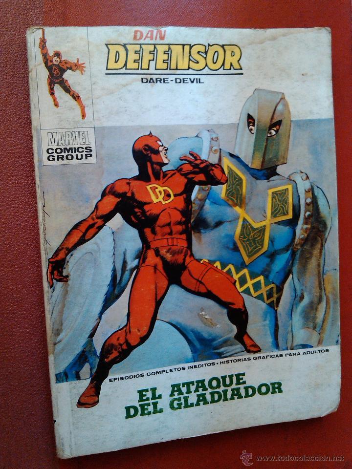 MARVEL COMICS GROUP DAN DEFENSOR DARE DEVIL Nº 37 EL ATAQUE DEL GLADIADOR 197 MBE (Tebeos y Comics - Vértice - Dan Defensor)