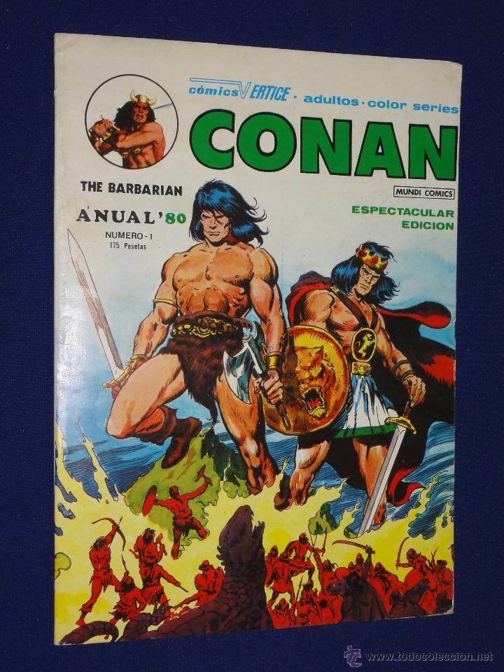 CONAN ANUAL '80 - VERTICE (Tebeos y Comics - Vértice - Conan)