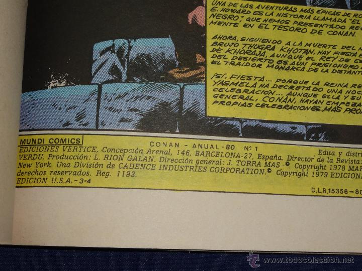 Cómics: CONAN ANUAL '80 - VERTICE - Foto 2 - 100761747