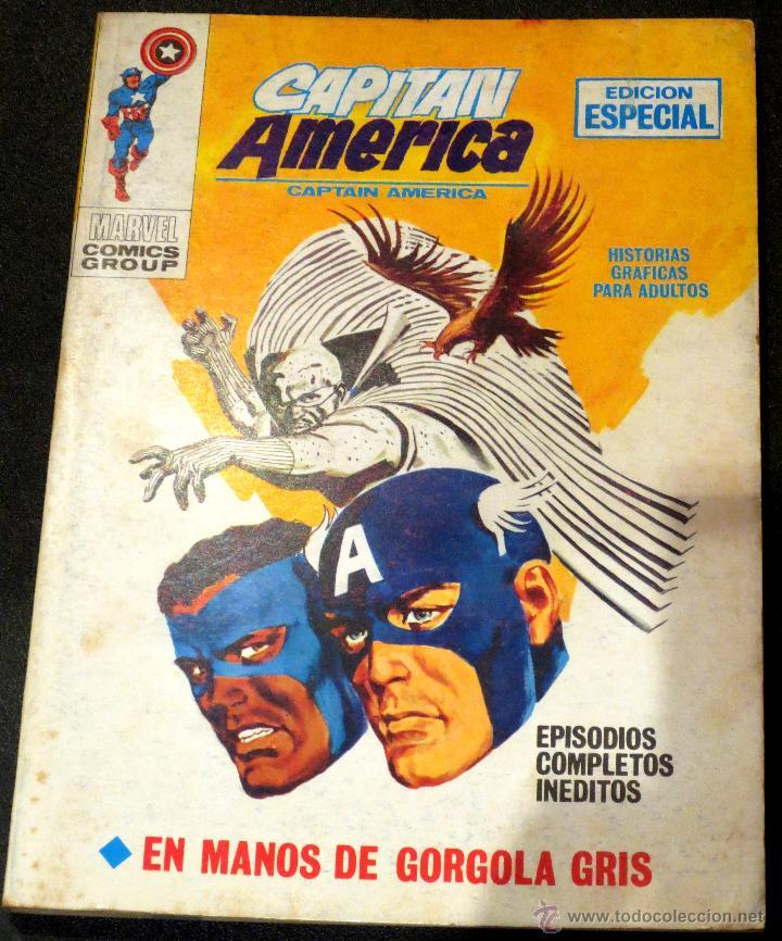 CAPITÁN AMÉRICA CAPTAIN AMERICA EN MANOS DE GORGOLA GRIS Nº 20 EDICIONES VÉRTICE AÑO 1971 (Tebeos y Comics - Vértice - Capitán América)