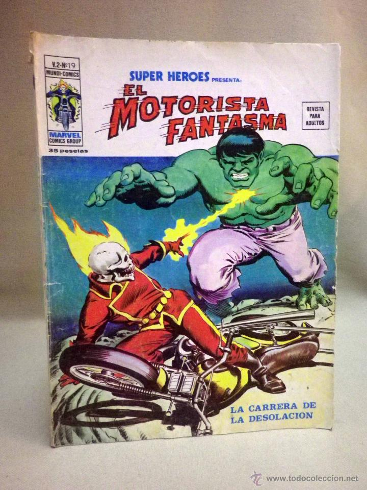 TEBEO O COMIC, EL MOTORISTA FANTASMA, V 2, Nº 19, EDICIONES VERTICE (Tebeos y Comics - Vértice - V.2)