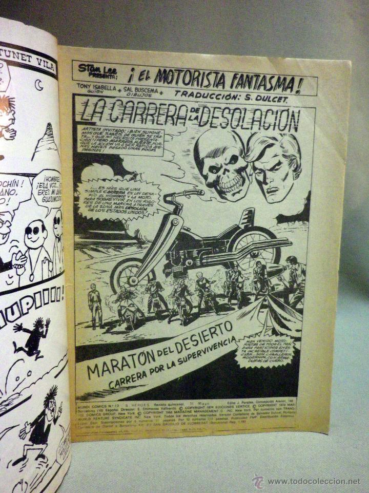 Cómics: TEBEO O COMIC, EL MOTORISTA FANTASMA, V 2, Nº 19, EDICIONES VERTICE - Foto 2 - 45525243