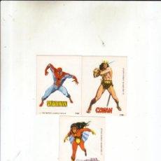 Comics: VERTICE-LOTE DE CROMOS ADHESIVOS SPIDERMAN Y CONAN DE LOPEZ ESPI + REGALO.MBE. Lote 50086788