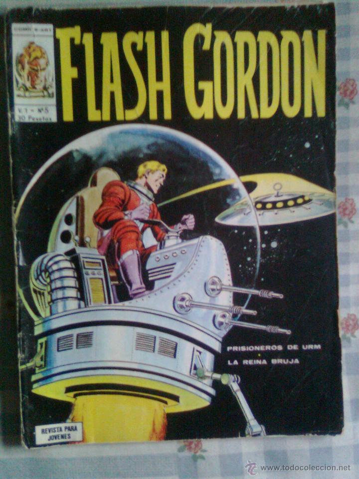 FLASH GORDON- V-1- Nº 5 -BOB JUJTANI-DAN BARRY- 1974-NUEVO Y MUY ESCASO-DIFÍCIL-LEAN-2750 (Tebeos y Comics - Vértice - Flash Gordon)