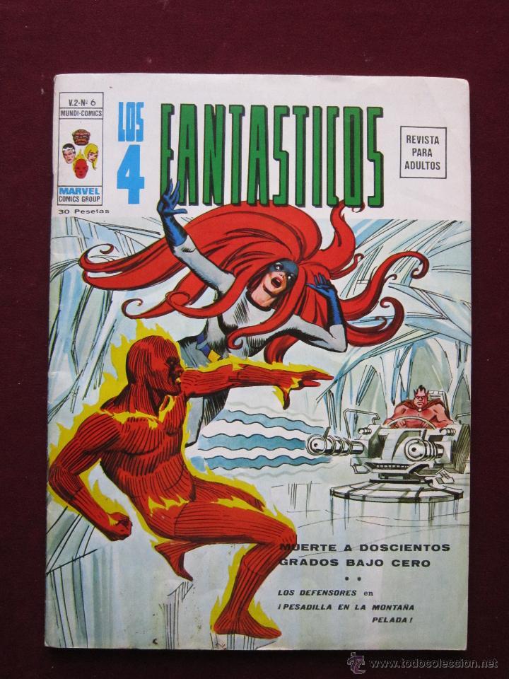 LOS 4 FANTÁSTICOS Nº 6. V.2. MUERTE A DOSCIENTOS GRADOS BAJO CERO. VERTICE. TEBENI VOL. 2. MBE (Tebeos y Comics - Vértice - 4 Fantásticos)