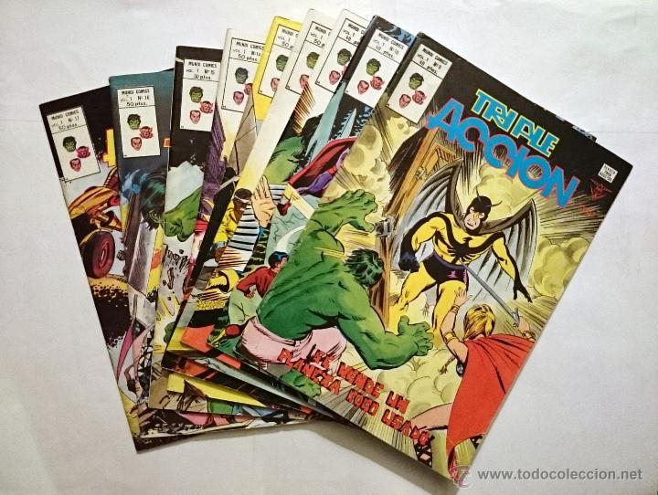 TRIPLE ACCION VOL. 1 # 09-10-11-12-13-14-15-16-17 (VERTICE) - LOTE 9 NUMEROS - 1979 - LOS DEFENSORES (Tebeos y Comics - Vértice - Otros)