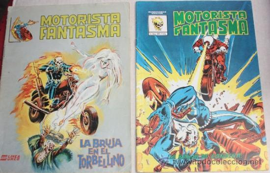 MOTORISTA FANTASMA Nº4 (MUNDICOMICS) + Nº 6 (SURCO) (Tebeos y Comics - Vértice - Surco / Mundi-Comic)