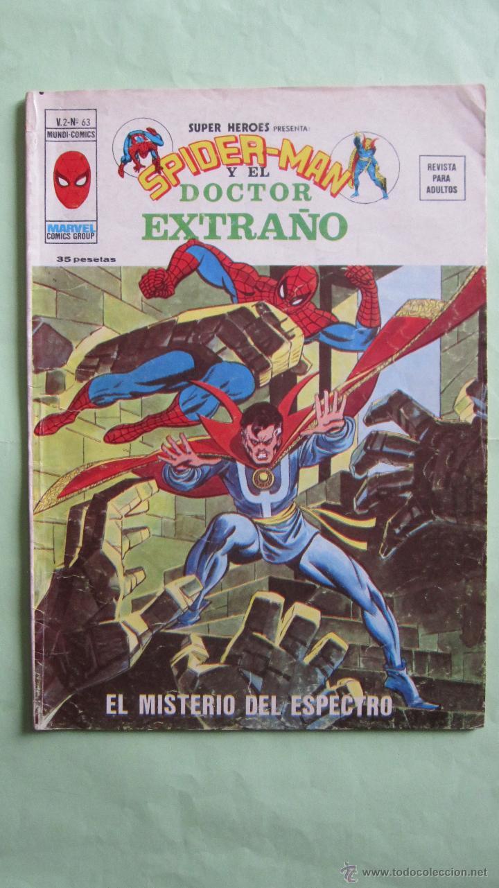 VERTICE. SUPER HEROES VOL.2 Nº62+63.SPIDERMAN+HOMBRE DE HIERRO+DOC. EXTRAÑO.INDISPENSABLE (Tebeos y Comics - Vértice - Super Héroes)