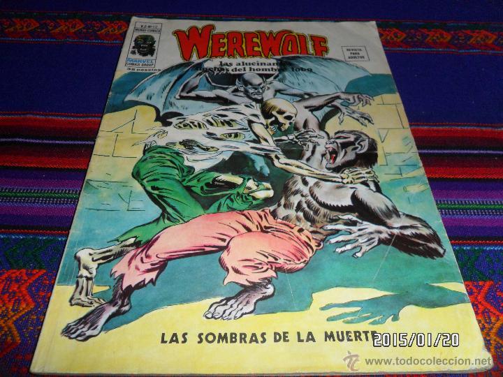 VÉRTICE VOL. 2 WEREWOLF Nº 12. 35 PTS. 1975. HOMBRE LOBO. LAS SOMBRAS DE LA MUERTE. DIFÍCIL!!!!! (Tebeos y Comics - Vértice - V.2)