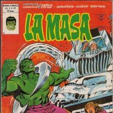 Comics : LA MASA VOL.3 # 42 (VERTICE,1980) - HULK - ULTIMO NUMERO. Lote 47459399