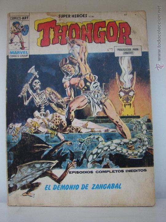 THONGOR. EDICIONES VERTICE N. 9 EL DEMONIO DE ZANGABAL (Tebeos y Comics - Vértice - Super Héroes)
