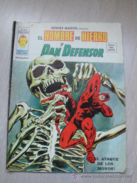 HEROES MARVEL EL HOMBRE DE HIERRO Y DAN DEFENSOR V.2 Nº 19 (Tebeos y Comics - Vértice - V.2)