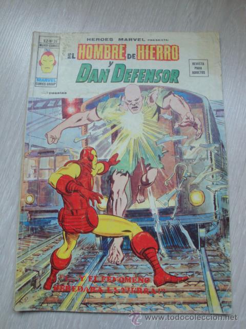 HEROES MARVEL EL HOMBRE DE HIERRO Y DAN DEFENSOR V.2 Nº 26 (Tebeos y Comics - Vértice - V.2)