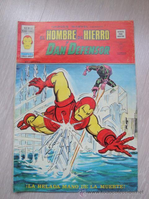 HEROES MARVEL EL HOMBRE DE HIERRO Y DAN DEFENSOR V.2 Nº 33 (Tebeos y Comics - Vértice - V.2)