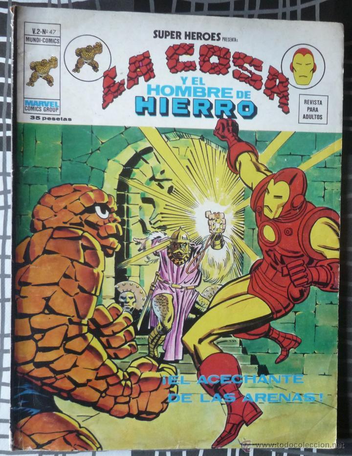 SUPER HEROES V.2 Nº 47 LA COSA Y EL HOMBRE DE HIERRO (Tebeos y Comics - Vértice - Super Héroes)