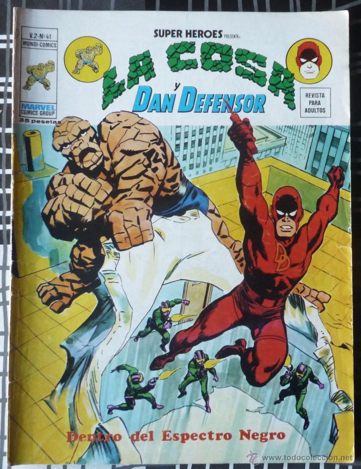 SUPER HEROES V.2 Nº 41 - LA COSA Y DAN DEFENSOR (Tebeos y Comics - Vértice - Super Héroes)