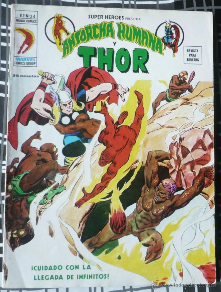 SUPER HEROES V.2 Nº 24 - LA ANTORCHA HUMANA Y THOR (Tebeos y Comics - Vértice - Super Héroes)