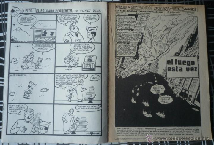 Cómics: SUPER HEROES V.2 Nº 24 - LA ANTORCHA HUMANA Y THOR - Foto 3 - 47967213