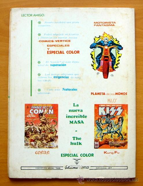 Cómics: El planeta de los monos nº 22 - Ediciones Vértice 1974 - Foto 2 - 48081698