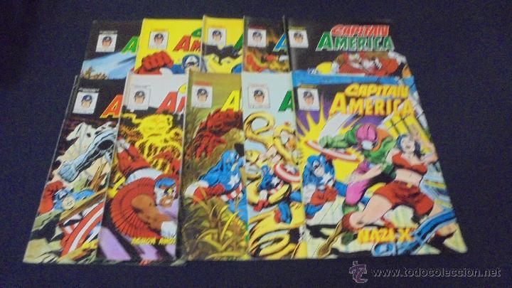 COLECCION COMPLETA - CAPITAN AMERICA - 10 EJEMPLARES - EDICIONES VERTICE. (Tebeos y Comics - Vértice - Capitán América)