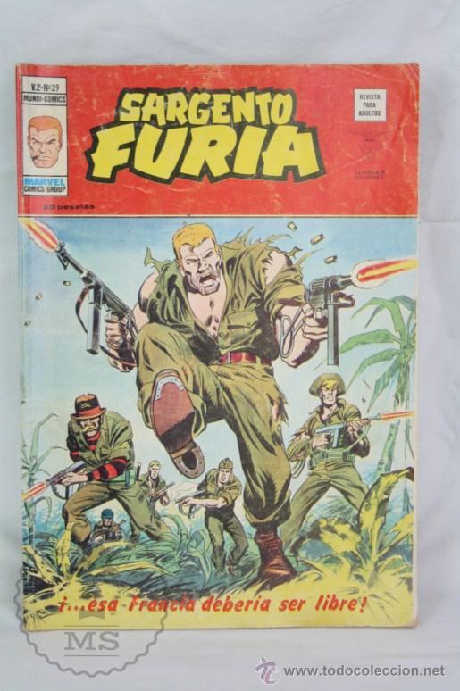 CÓMIC SARGENTO FURIA - V.2 - Nº 29. ¡...ESA FRANCIA DEBERÍA SER LIBRE! - ED. VÉRTICE / MUNDI-CÓMICS (Tebeos y Comics - Vértice - V.2)